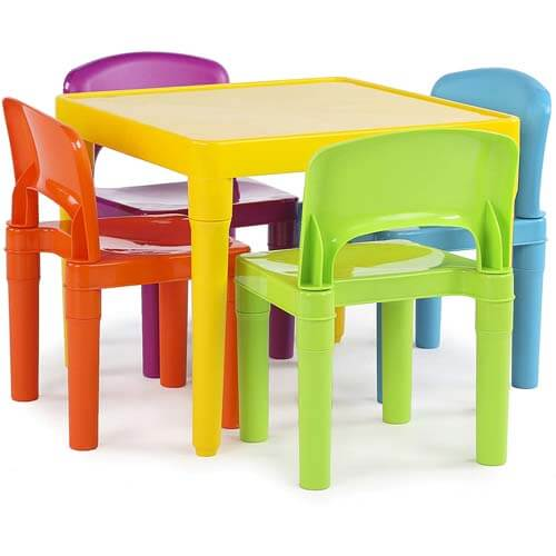 Humble Crew Tot Tutors Kids Plastic Table and Chair Set