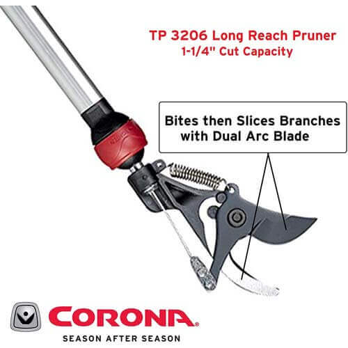 Corona TP SwivelCUT Long Reach Pruner1- ¼ inch