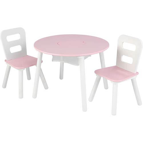 KidKraft Wooden Round Table & 2 Chair Set - Best Kids Table and Chair Sets