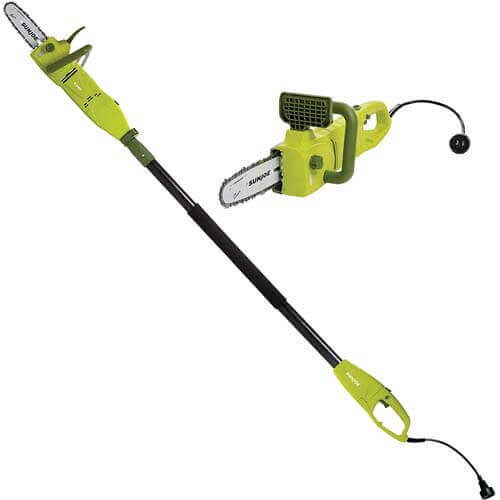 Sun Joe SWJ806E 8-Inch 8.0 Amp 2-in-1 convertible pole chain saw