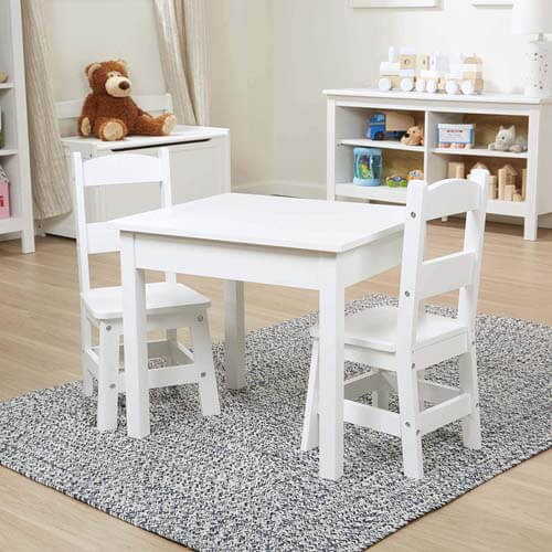 Melissa & Doug Table & Chair 3-Piece Set - Best Kids Table and Chair Sets