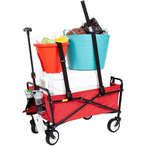 Siena Collapsible Folding Wagon with Straps