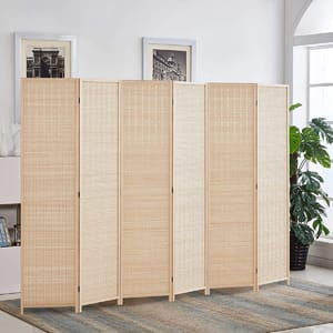 Rose Home Fashion RHF 6 ft.Tall Bamboo Room Dividers,