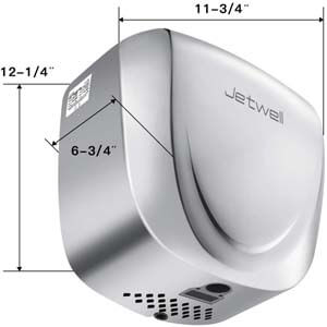 JETWELL 2Pack High Speed Commercial Automatic Eco Hand Dryer