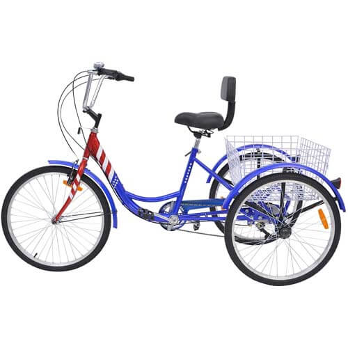 Slsy Adult Tricycles with Shopping Basket