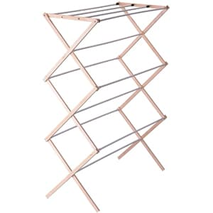 Household Essentials Collapsible Wooden Clothes Drying Rack