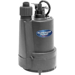 Superior Pump 91330 1/3 HP Thermostatic Submersible Utility Pump