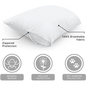 AllerEase Cotton Allergy Protection Pillow Protector