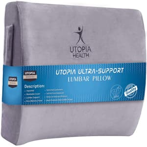 Super Comfortable and Supportive – Memory Foam Back Pillow, Lumbar Pillow – Utopia Bedding